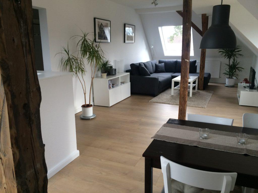 Wohnzimmer der Ferienwohnung kiel-Wik